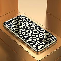 Custodia Silicone Gel Laterale Fantasia Modello Specchio Cover per Apple iPhone X Nero