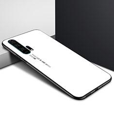 Custodia Silicone Gel Laterale Fantasia Modello Specchio Cover per Huawei Honor 20 Pro Bianco