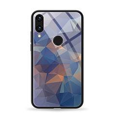 Custodia Silicone Gel Laterale Fantasia Modello Specchio Cover per Huawei Honor View 10 Lite Blu