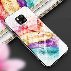 Custodia Silicone Gel Laterale Fantasia Modello Specchio Cover per Huawei Mate 20 Pro Multicolore