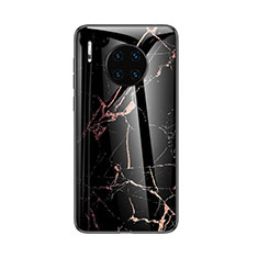 Custodia Silicone Gel Laterale Fantasia Modello Specchio Cover per Huawei Mate 30 Nero