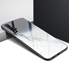 Custodia Silicone Gel Laterale Fantasia Modello Specchio Cover per Huawei Nova 5T Grigio