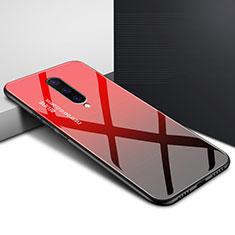 Custodia Silicone Gel Laterale Fantasia Modello Specchio Cover per OnePlus 8 Rosso