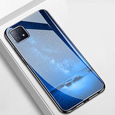 Custodia Silicone Gel Laterale Fantasia Modello Specchio Cover per Oppo A73 5G Blu