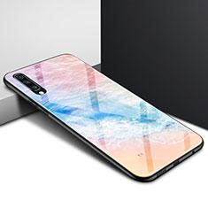 Custodia Silicone Gel Laterale Fantasia Modello Specchio Cover per Samsung Galaxy A70 Colorato