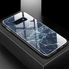 Custodia Silicone Gel Laterale Fantasia Modello Specchio Cover per Samsung Galaxy S10e Blu