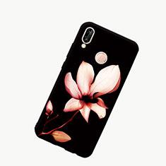 Custodia Silicone Gel Laterale Fantasia Modello Specchio Cover S01 per Huawei Honor 10 Lite Nero