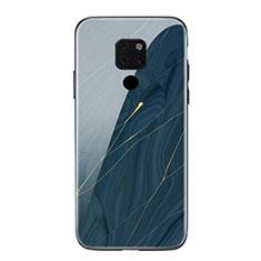 Custodia Silicone Gel Laterale Fantasia Modello Specchio Cover S01 per Huawei Mate 20 Blu