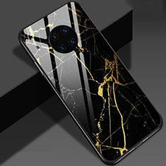 Custodia Silicone Gel Laterale Fantasia Modello Specchio Cover S01 per Huawei Mate 30 5G Oro