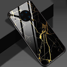 Custodia Silicone Gel Laterale Fantasia Modello Specchio Cover S01 per Huawei Mate 30 Oro