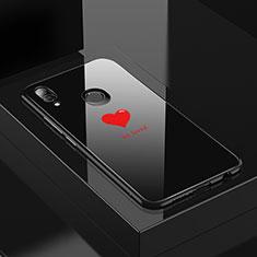 Custodia Silicone Gel Laterale Fantasia Modello Specchio Cover S01 per Huawei P20 Lite Nero