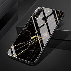 Custodia Silicone Gel Laterale Fantasia Modello Specchio Cover S01 per Huawei P30 Lite Oro