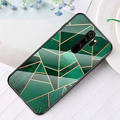 Custodia Silicone Gel Laterale Fantasia Modello Specchio Cover S01 per Xiaomi Redmi Note 8 Pro Verde