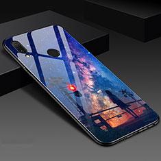 Custodia Silicone Gel Laterale Fantasia Modello Specchio Cover S02 per Huawei Honor 10 Lite Blu