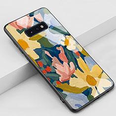 Custodia Silicone Gel Laterale Fantasia Modello Specchio Cover S02 per Samsung Galaxy S10e Giallo