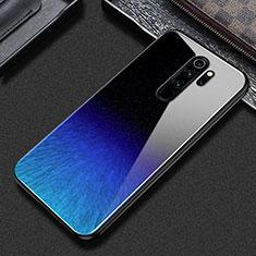 Custodia Silicone Gel Laterale Fantasia Modello Specchio Cover S02 per Xiaomi Redmi Note 8 Pro Blu