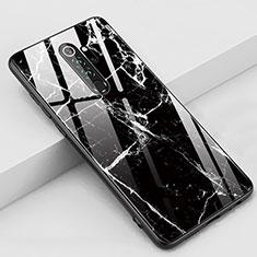 Custodia Silicone Gel Laterale Fantasia Modello Specchio Cover S03 per Xiaomi Redmi Note 8 Pro Nero