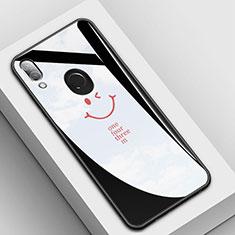 Custodia Silicone Gel Laterale Fantasia Modello Specchio Cover S04 per Huawei P20 Lite Nero