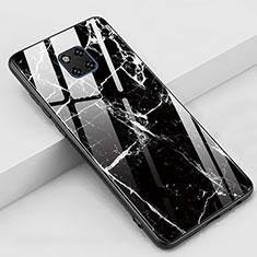 Custodia Silicone Gel Laterale Fantasia Modello Specchio Cover Z02 per Huawei Mate 20 Pro Nero