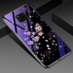 Custodia Silicone Gel Laterale Fiori Specchio Cover K01 per Huawei Mate 20 Pro Multicolore