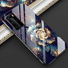 Custodia Silicone Gel Laterale Fiori Specchio Cover per Huawei P40 Pro Multicolore