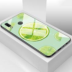 Custodia Silicone Gel Laterale Frutta Specchio Cover per Huawei Honor View 10 Lite Verde
