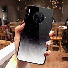 Custodia Silicone Gel Laterale Mistica Luna Stelle Specchio Cover per Huawei Mate 30 Nero