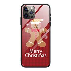 Custodia Silicone Gel Laterale Natale Modello Specchio Cover per Apple iPhone 12 Pro Max Rosso Rosa