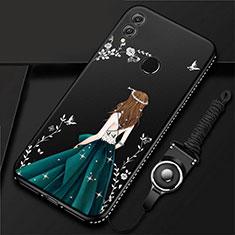 Custodia Silicone Gel Morbida Abito Ragazza Cover per Huawei Honor 10 Lite Nero