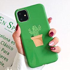 Custodia Silicone Gel Morbida Fantasia Modello Cover H02 per Apple iPhone 11 Verde