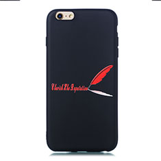 Custodia Silicone Gel Morbida Fantasia Modello Cover S01 per Apple iPhone 6 Rosso