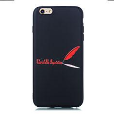 Custodia Silicone Gel Morbida Fantasia Modello Cover S01 per Apple iPhone 6S Rosso