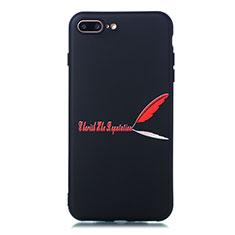 Custodia Silicone Gel Morbida Fantasia Modello Cover S01 per Apple iPhone 8 Plus Rosso