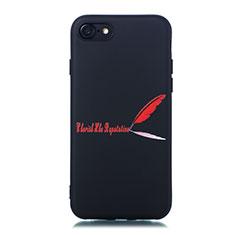 Custodia Silicone Gel Morbida Fantasia Modello Cover S01 per Apple iPhone SE (2020) Rosso