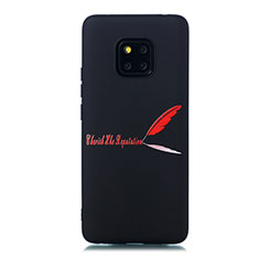 Custodia Silicone Gel Morbida Fantasia Modello Cover S01 per Huawei Mate 20 Pro Rosso