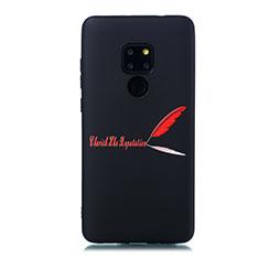 Custodia Silicone Gel Morbida Fantasia Modello Cover S01 per Huawei Mate 20 Rosso