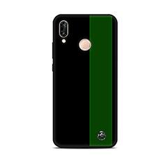 Custodia Silicone Gel Morbida Fantasia Modello Cover S01 per Huawei P20 Lite Verde