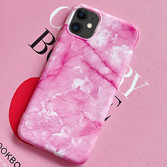 Custodia Silicone Gel Morbida Fantasia Modello Cover S02 per Apple iPhone 11 Rosa