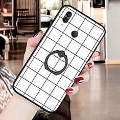 Custodia Silicone Gel Morbida Fantasia Modello Cover S02 per Huawei P20 Lite Bianco