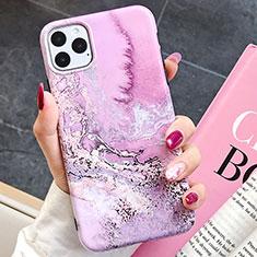 Custodia Silicone Gel Morbida Fantasia Modello Cover S03 per Apple iPhone 11 Pro Max Oro Rosa