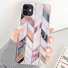 Custodia Silicone Gel Morbida Fantasia Modello Cover S07 per Apple iPhone 11 Multicolore