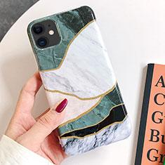 Custodia Silicone Gel Morbida Fantasia Modello Cover S08 per Apple iPhone 11 Verde