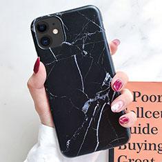 Custodia Silicone Gel Morbida Fantasia Modello Cover S10 per Apple iPhone 11 Nero