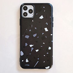 Custodia Silicone Gel Morbida Fantasia Modello Cover S12 per Apple iPhone 11 Pro Max Nero