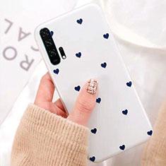 Custodia Silicone Gel Morbida Fiori Cover K02 per Huawei Honor 20 Pro Bianco