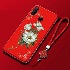 Custodia Silicone Gel Morbida Fiori Cover per Huawei Enjoy 9s Colorato