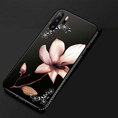 Custodia Silicone Gel Morbida Fiori Cover S01 per Huawei P30 Pro Rosa