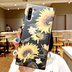 Custodia Silicone Gel Morbida Fiori Cover S01 per Samsung Galaxy Note 10 5G Multicolore