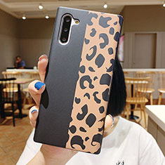 Custodia Silicone Gel Morbida Fiori Cover S01 per Samsung Galaxy Note 10 5G Nero