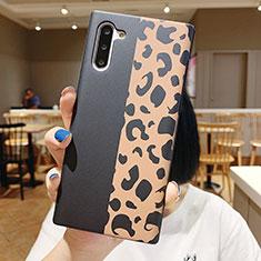 Custodia Silicone Gel Morbida Fiori Cover S01 per Samsung Galaxy Note 10 Nero